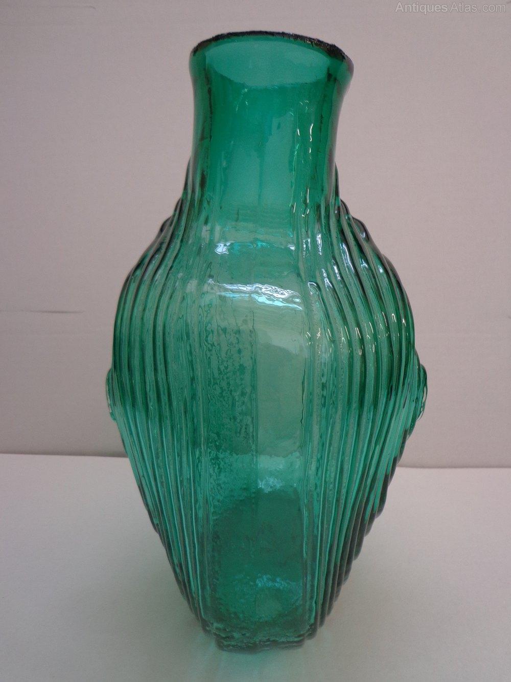 Antiques Atlas Rare Whitefriars Nipple Vase In Cased Aqua