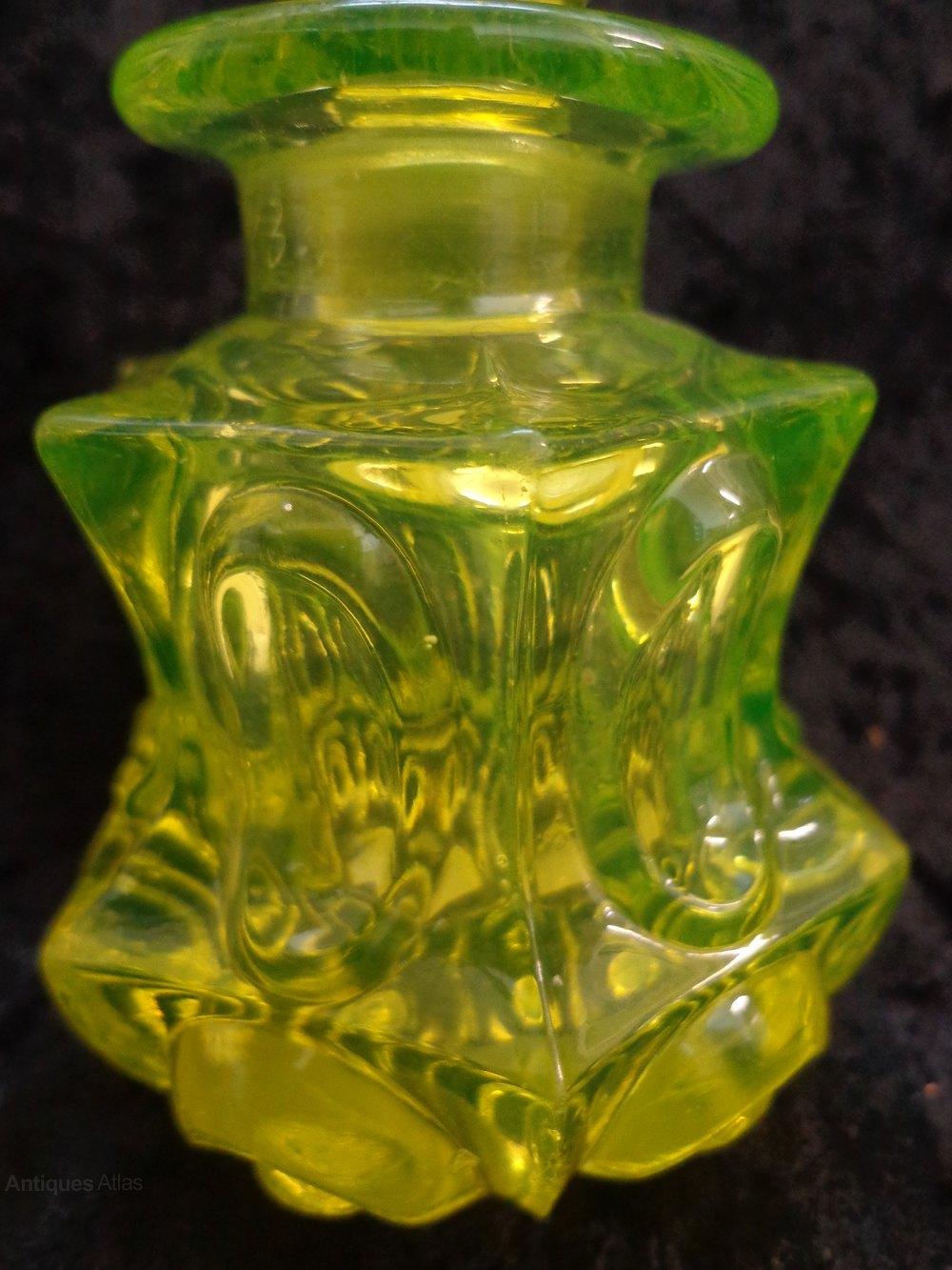Antiques Atlas Victorian Uranium Glass Bottle