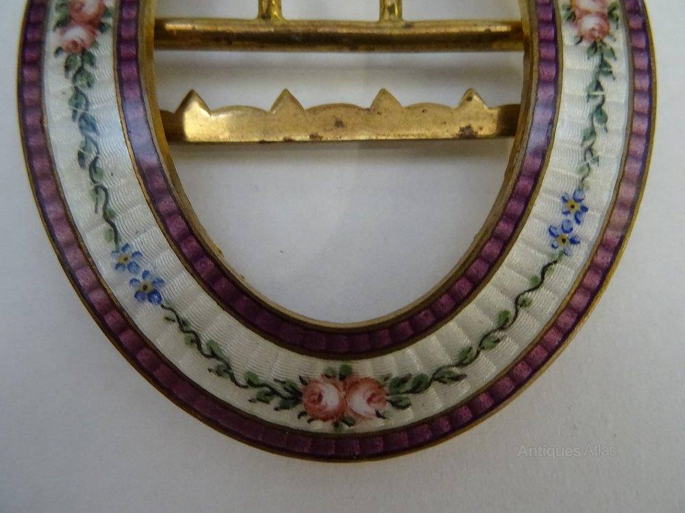 antiques atlas vintage enamel buckle