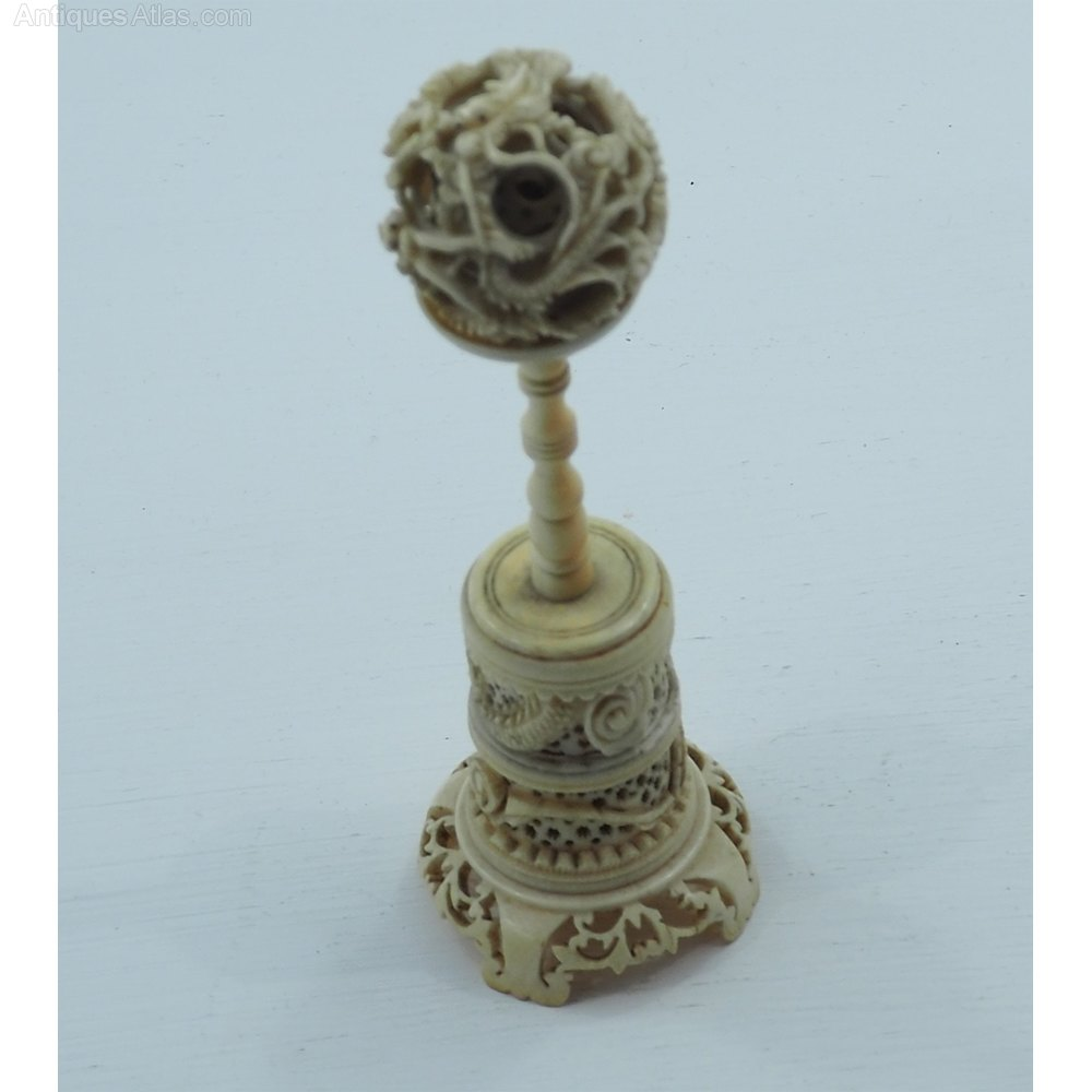 Antiques atlas th century chinese carved ivory puzzle ball