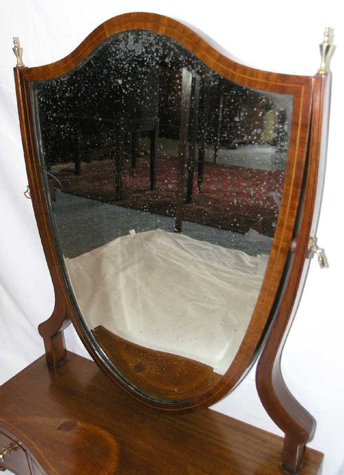 Antiques Atlas Early 19th Century Shield Shape Toilet Mirror