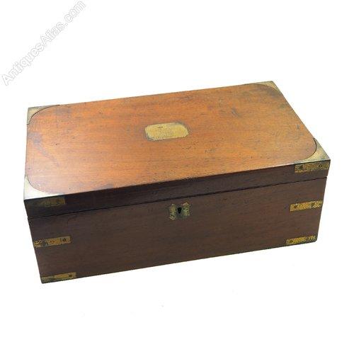 Antiques Atlas Georgian Mahogany Amp Brass Campaign Lap Desk