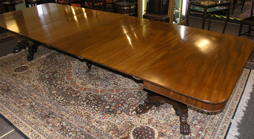 Huge 12 foot 4 long georgian mahogany dining table for 12 foot long table