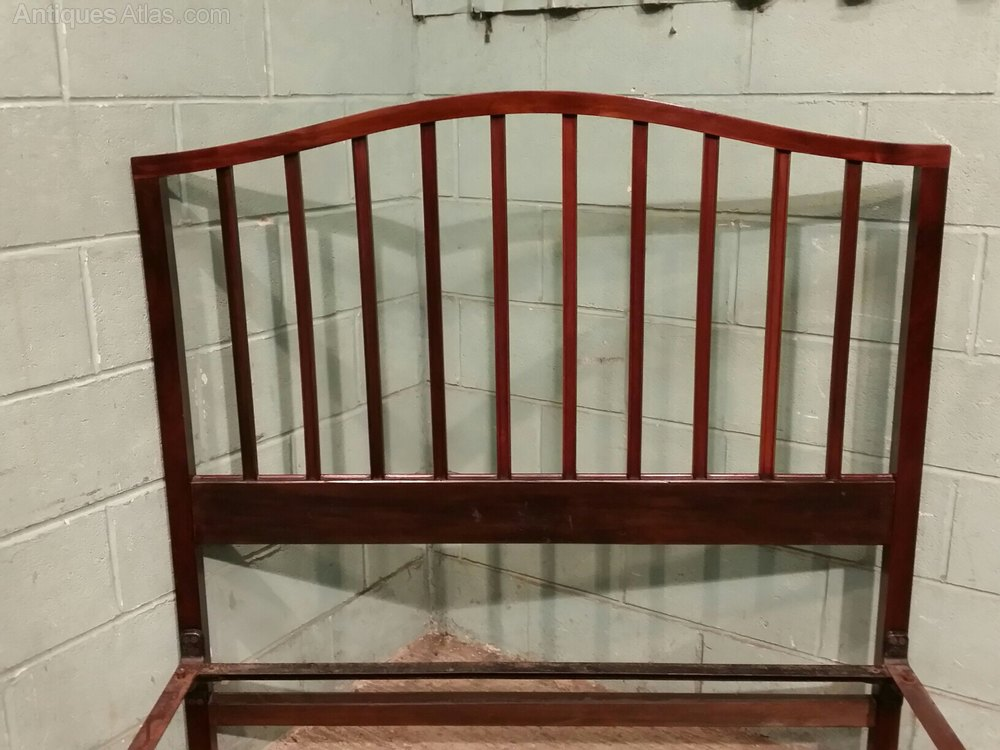 Antique Edwardian Mahogany Double Bed Stead C1900