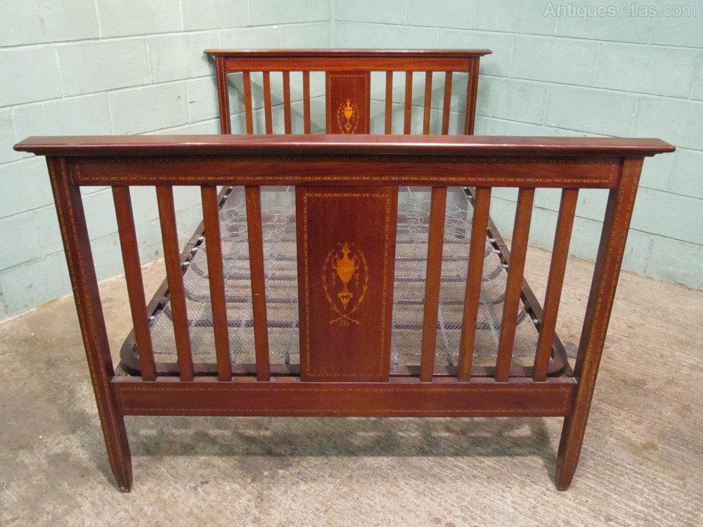 edwardian mahogany bedroom furniture. antique edwardian mahogany inlaid double bed beds bedroom furniture b