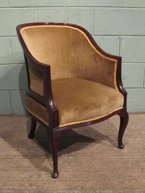 Antique Edwardian Mahogany Tub Chair C1900 Antiques Atlas