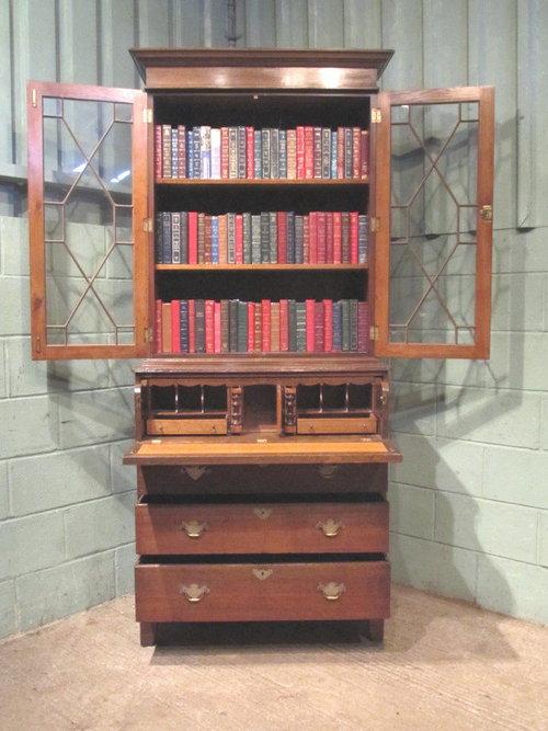 Antique Georgian Oak Secretaire Bookcase Antiques Atlas