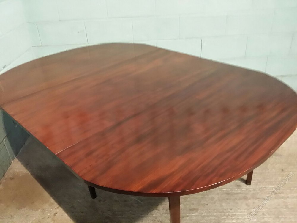 Antique Regency Mahogany Drop Leaf Dining Table Antiques