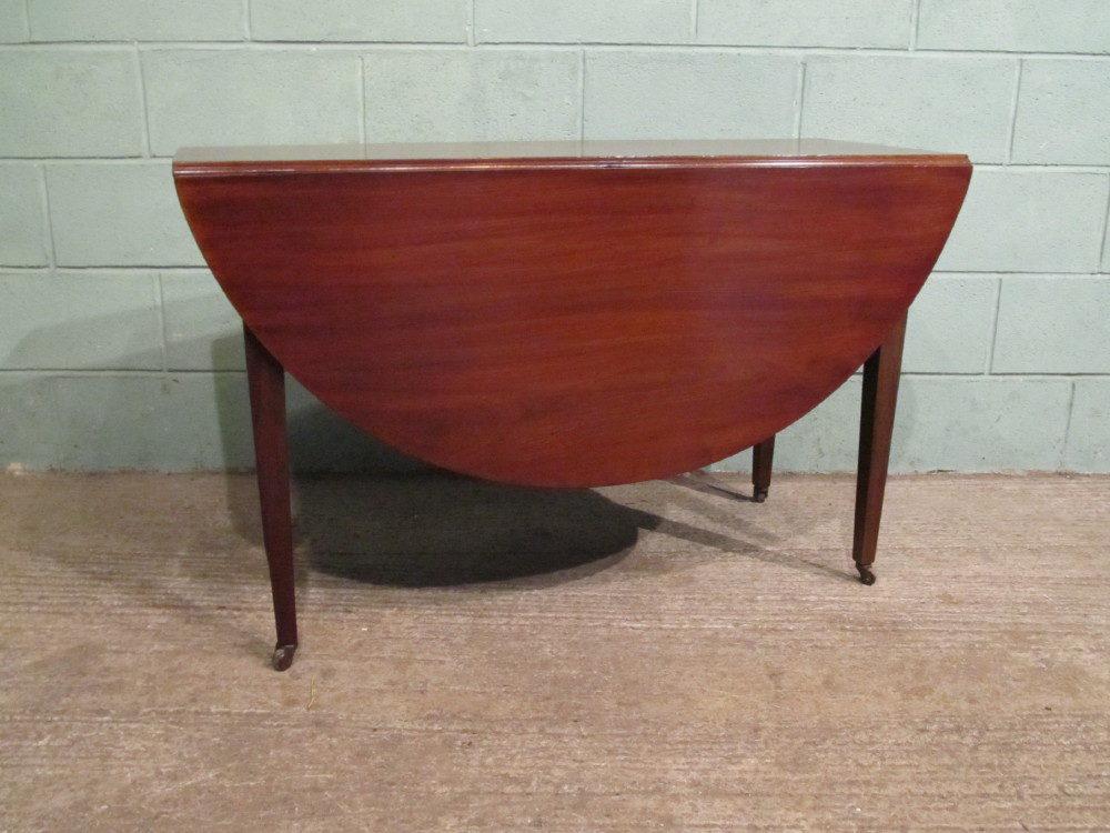 Antique regency mahogany drop leaf dining table antiques for Antique drop leaf dining table