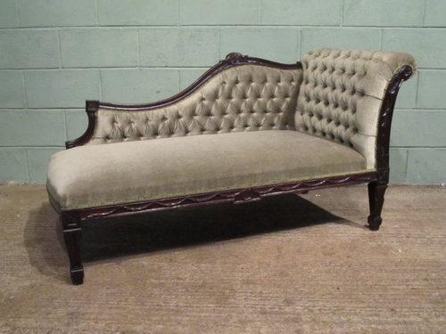 Antique victorian mahogany chaise longue antiques atlas - Antique chaise longue ...