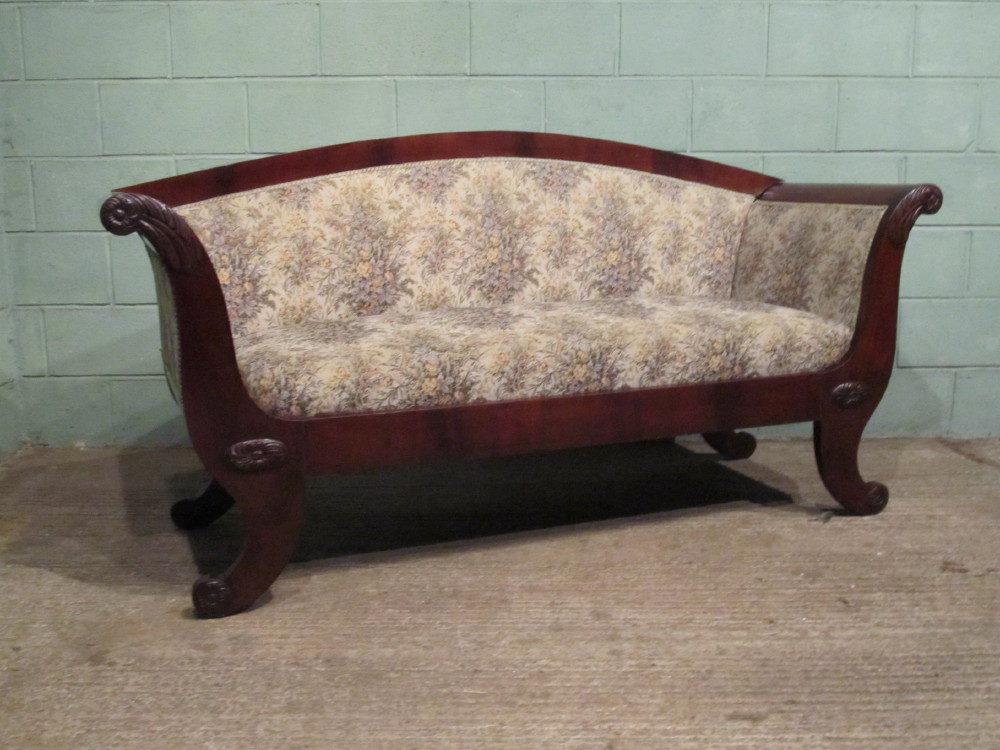 Antique Victorian Mahogany Flat Back Sofa Antiques Atlas