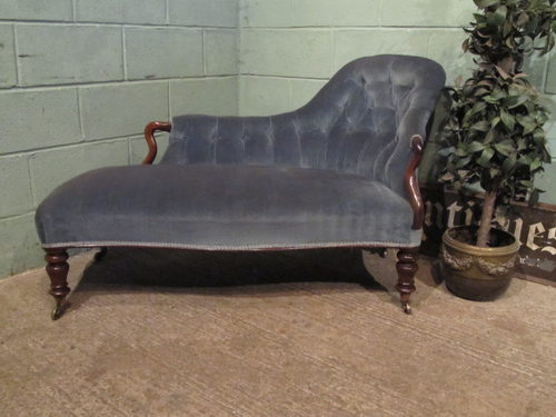 Antique victorian rosewood chaise longue sofa antiques atlas for Antique chaise longue for sale