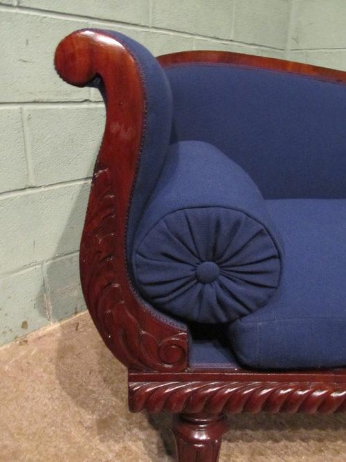 Antique william 1v mahogany chaise longue sofa antiques for Antique mahogany chaise lounge