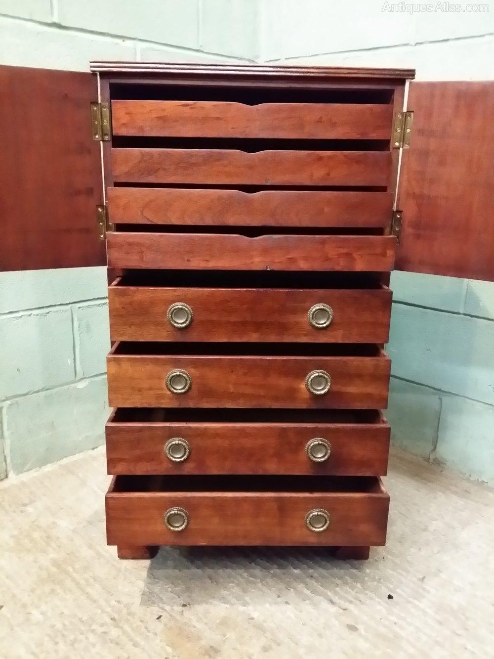 edwardian mahogany tallboy chest of drawers c1900. Black Bedroom Furniture Sets. Home Design Ideas