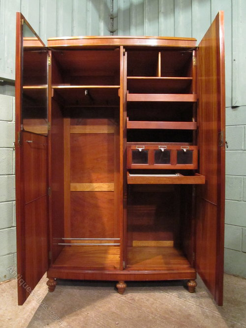 Edwardian Satinwood Gents Wardrobe Compactum Antiques Atlas
