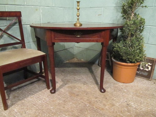 Georgian mahogany demi lune side table c1780 antiques atlas for Table demi lune fer forge