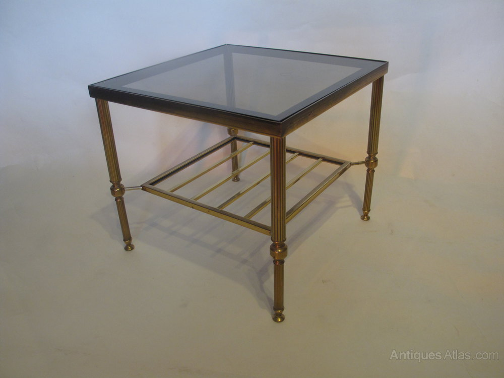 Antiques Atlas Pair Of Brass And Glass Coffee Tables