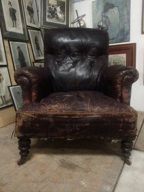 antique victorian leather chesterfield armchair antiques atlas. Black Bedroom Furniture Sets. Home Design Ideas