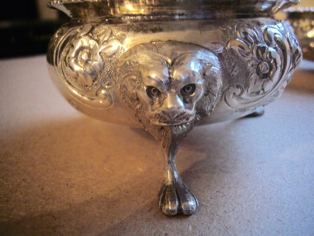 Cast Of Silver : Antiques atlas pair of george cast silver salts