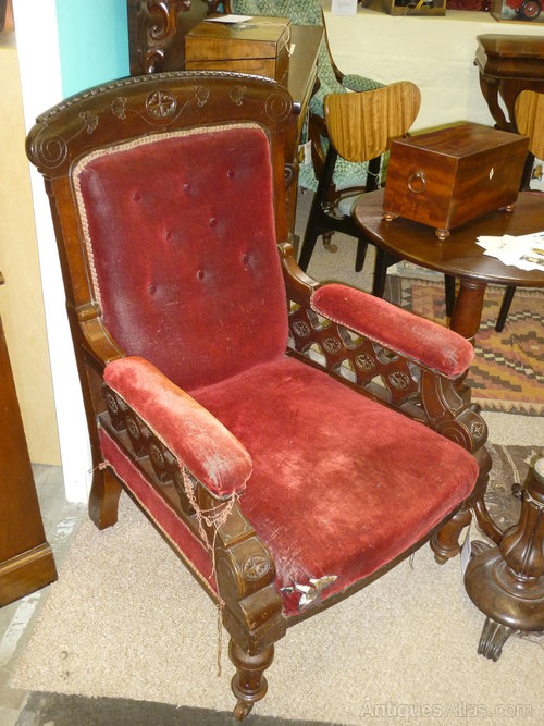 Edwardian mahogany salon arm chair for restoration for Wax chair salon