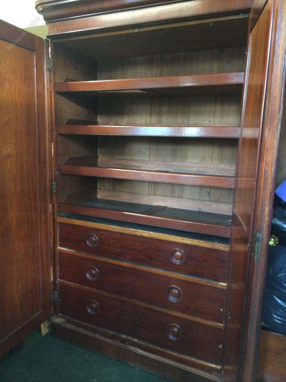 Victorian mahogany compactum wardrobe antiques atlas for Furniture village wardrobes