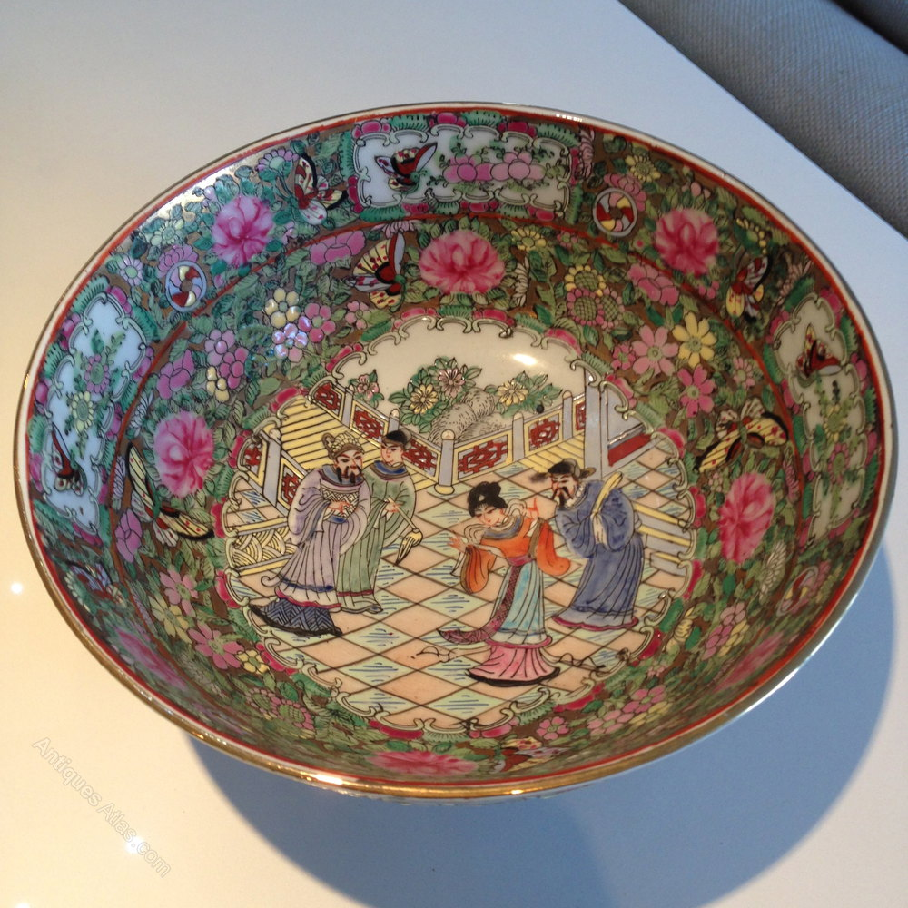 Antiques Atlas Large Chinese Famille Rose Bowl