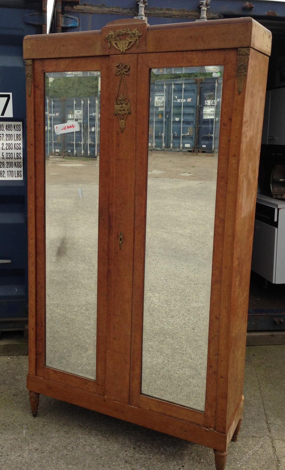 French Mirrored Armoire Antiques Atlas