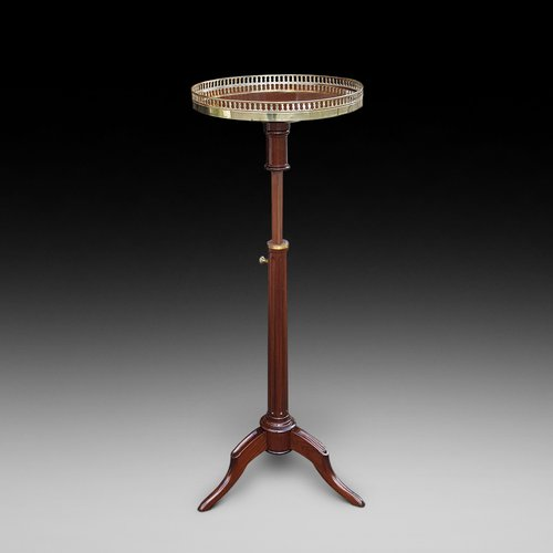 19thC French Mahogany Adjustable Side Table