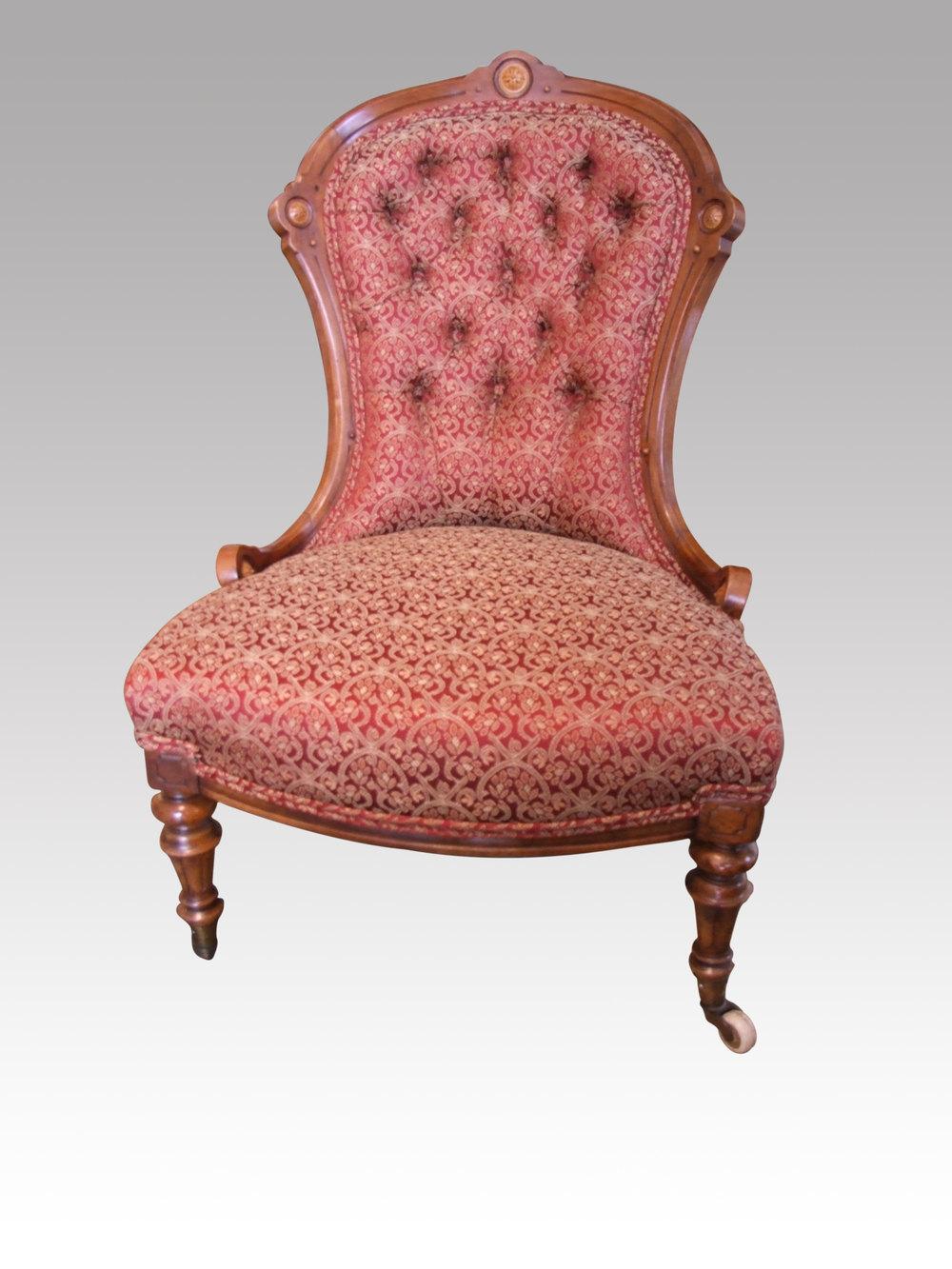 Aestetic Walnut Nursing Chair - Antiques Atlas