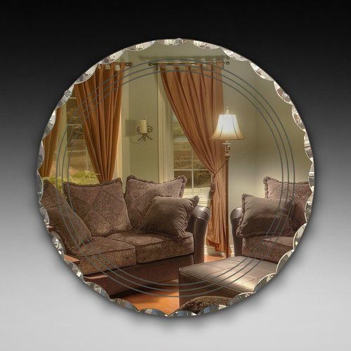 Art Deco Circular Silvered Mirror