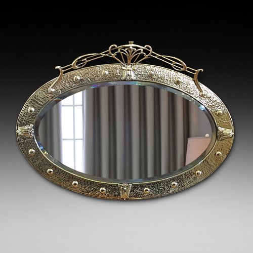 Arts and Crafts Brass Mirror - Keswick School