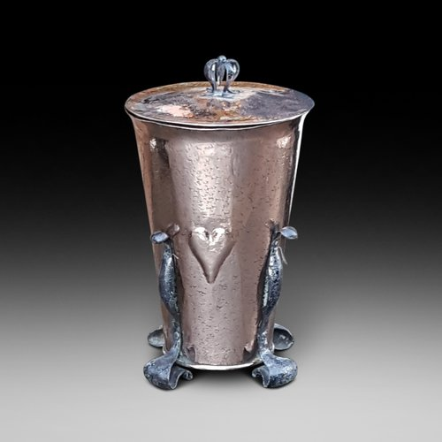 Arts and Crafts Copper Coal Dispenser