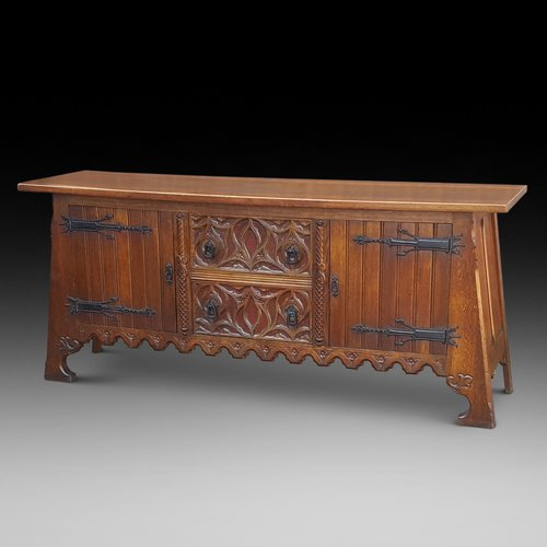 Arts and Crafts Oak Server Sideboard