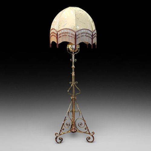 Arts and Crafts Telescopic Standard Lamp