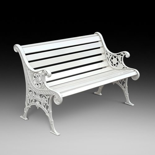 Early 20thC Cast Iron Garden Bench