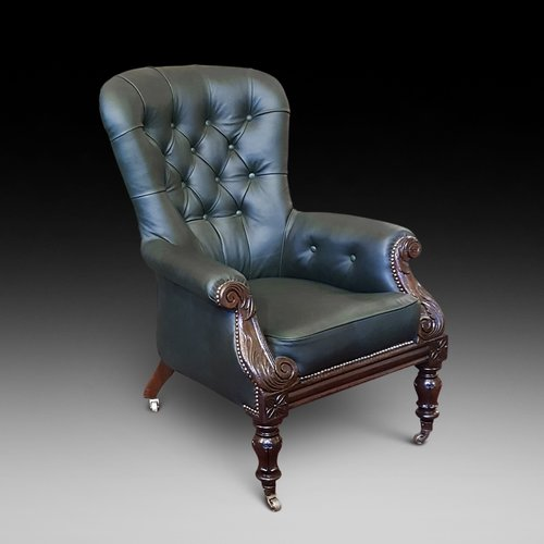 Early Victorian Mahogany Framed Armchair