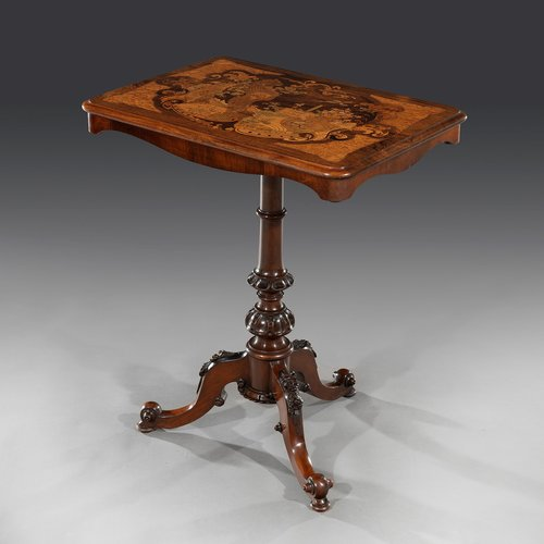 Early Victorian Marquetry Centre Table