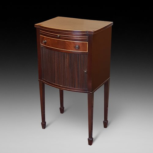 Edwardian Bow Fronted Night Stand