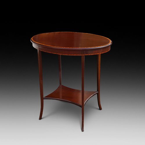 Edwardian Mahogany and Crossbanded Side Table