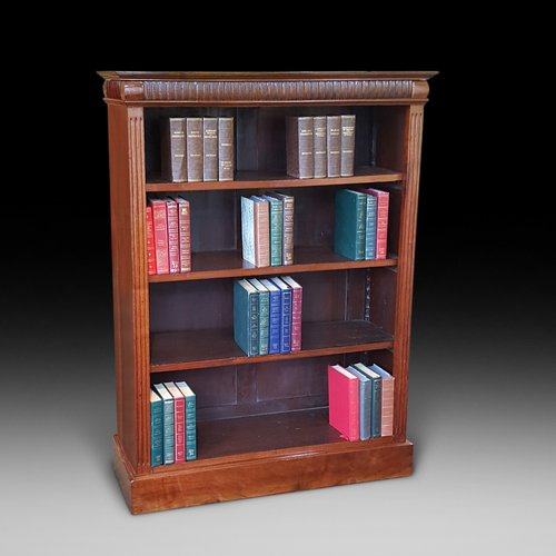 Edwardian Walnut Open Bookcase