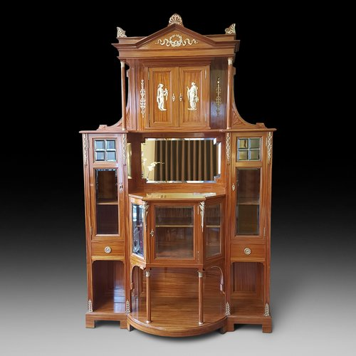 Exhibition Quality 19thC Swiss Satinwood Cabinet