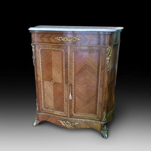 French Kingwood Serpentine Pier Cabinet