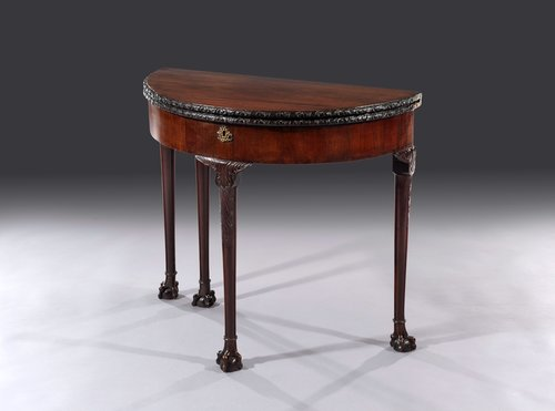 George II Mahogany Fold Over Card Table