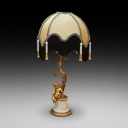 Gilt Metal Table Lamp