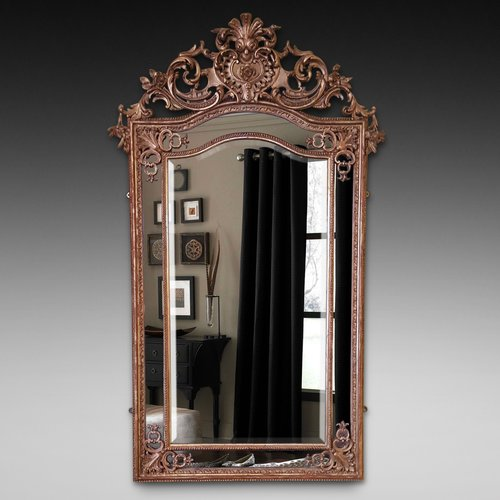 High Victorian Giltwood and Gesso Framed Mirror