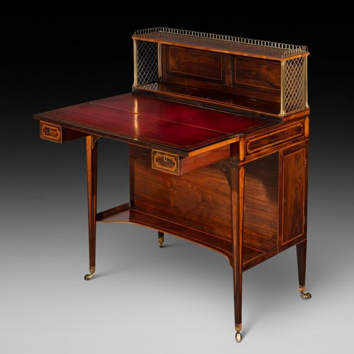 Late 18thC Rosewood Sheraton Artists Desk