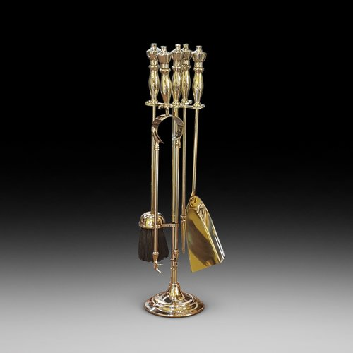 Late 19thC Brass Fire Companion Set