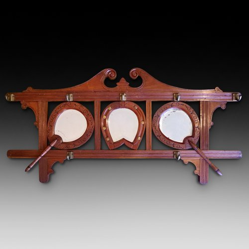 Late 19thC Walnut Coat Rack