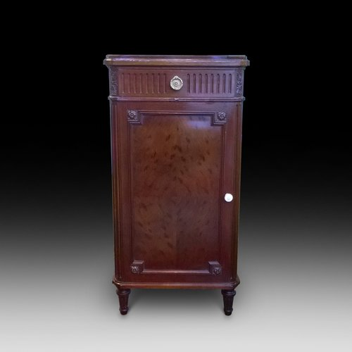 "Late 19th Century ""Plum Pudding"" Mahogany Pot Cupboard"
