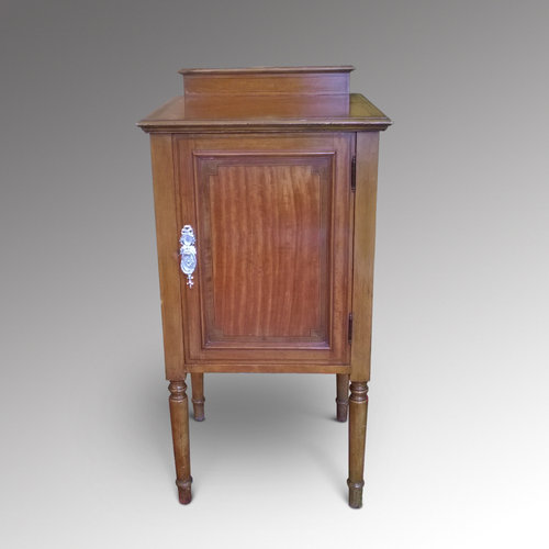 Late 19th Century Satinwood  Bedside Table